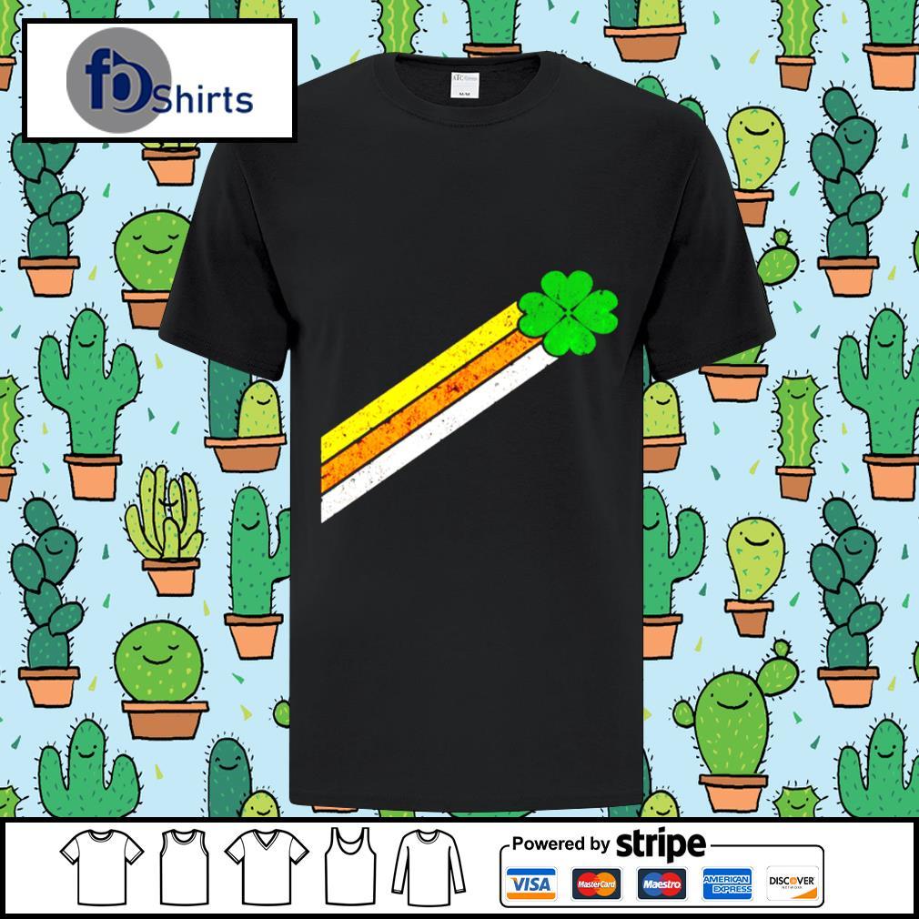Retro Irish Clover Comet Gift Shirt