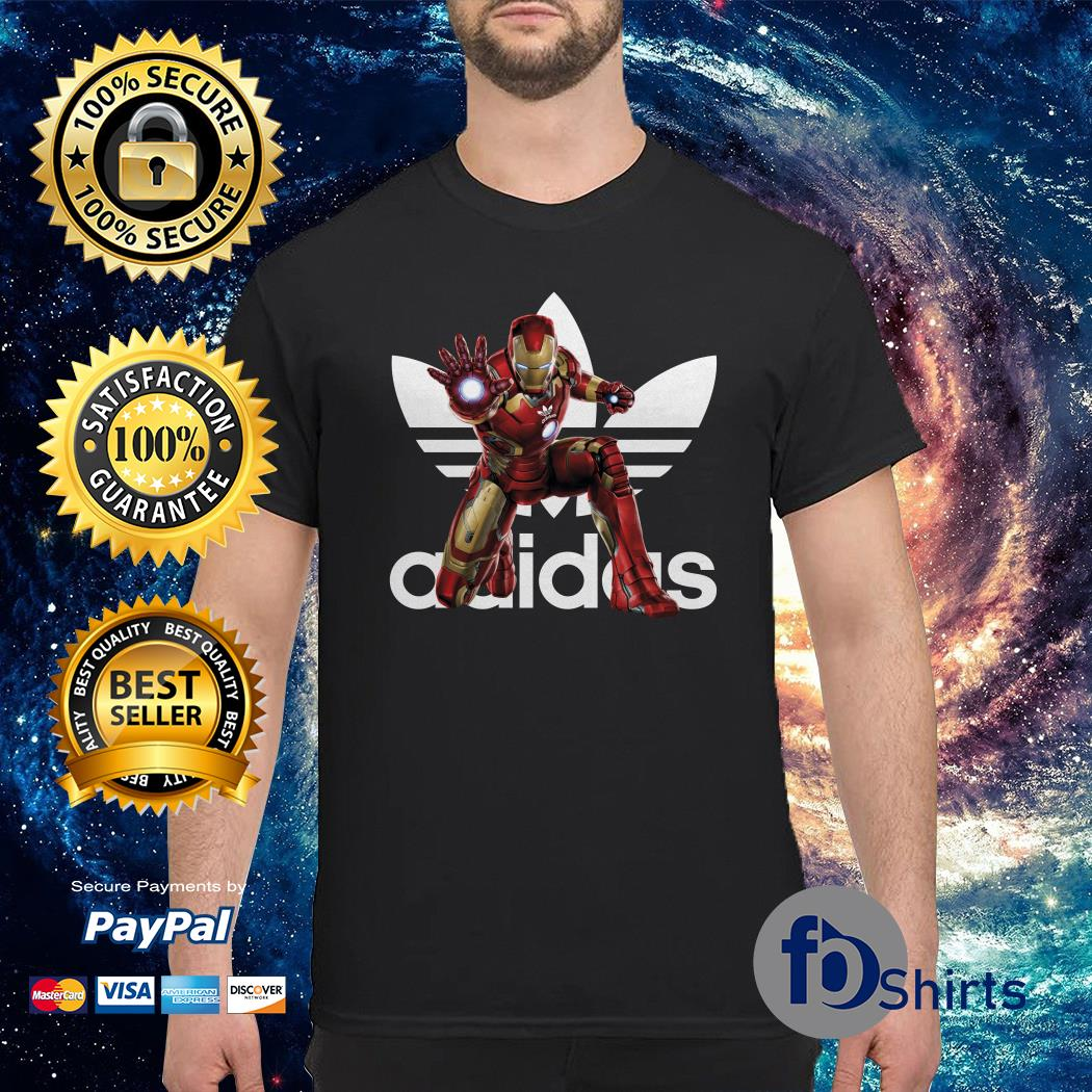 Adidas x mcu Iron man marvel shirt