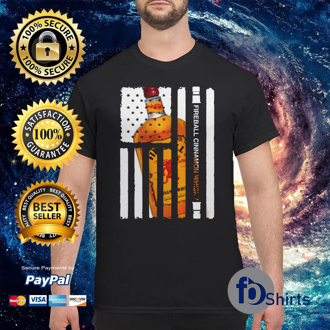 Fireball Cinnamon Whisky independence day american flag shirt