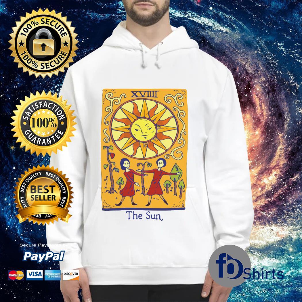 Xiiii distressed tarot card of the sun Hoodie