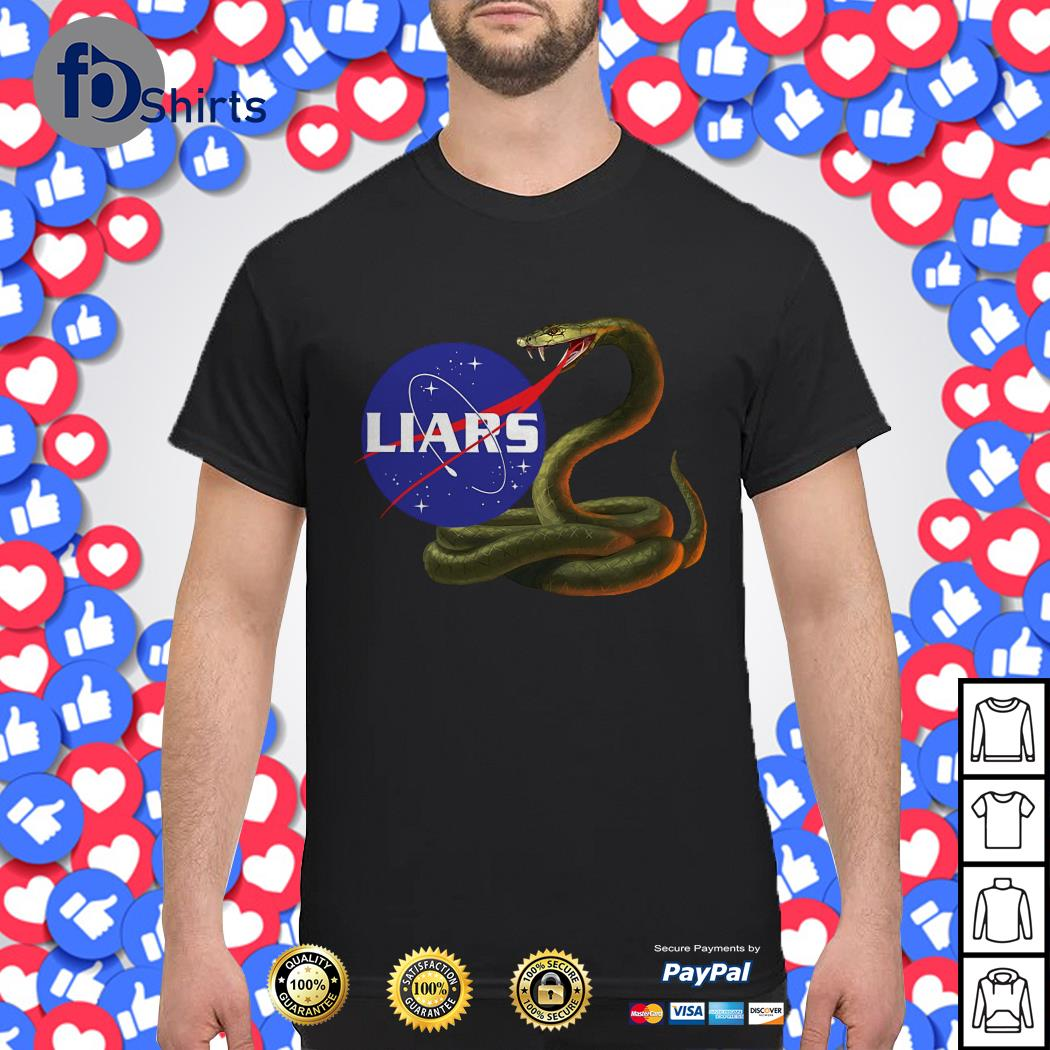 Liars Nasa logo Snake shirt