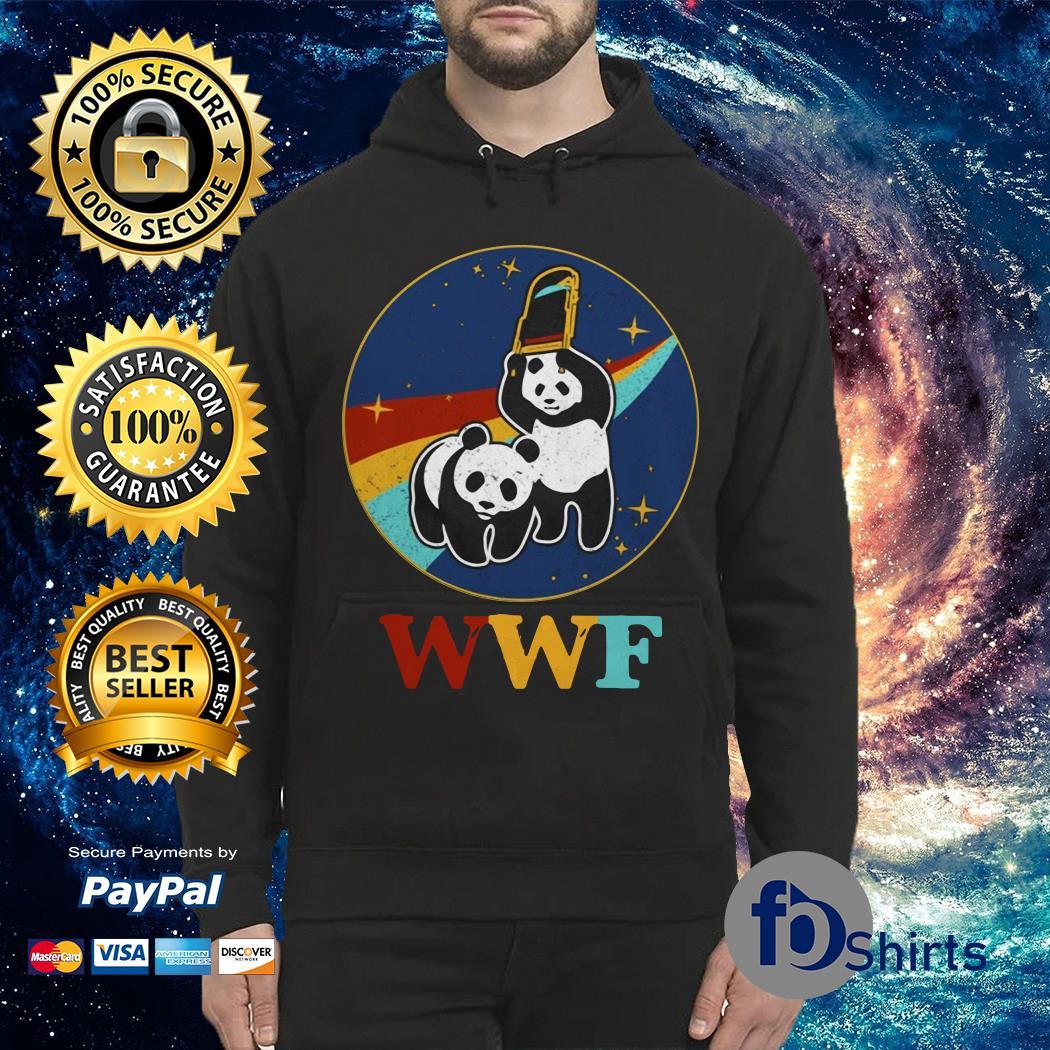 Wwf panda wrestling nasa Hoodie