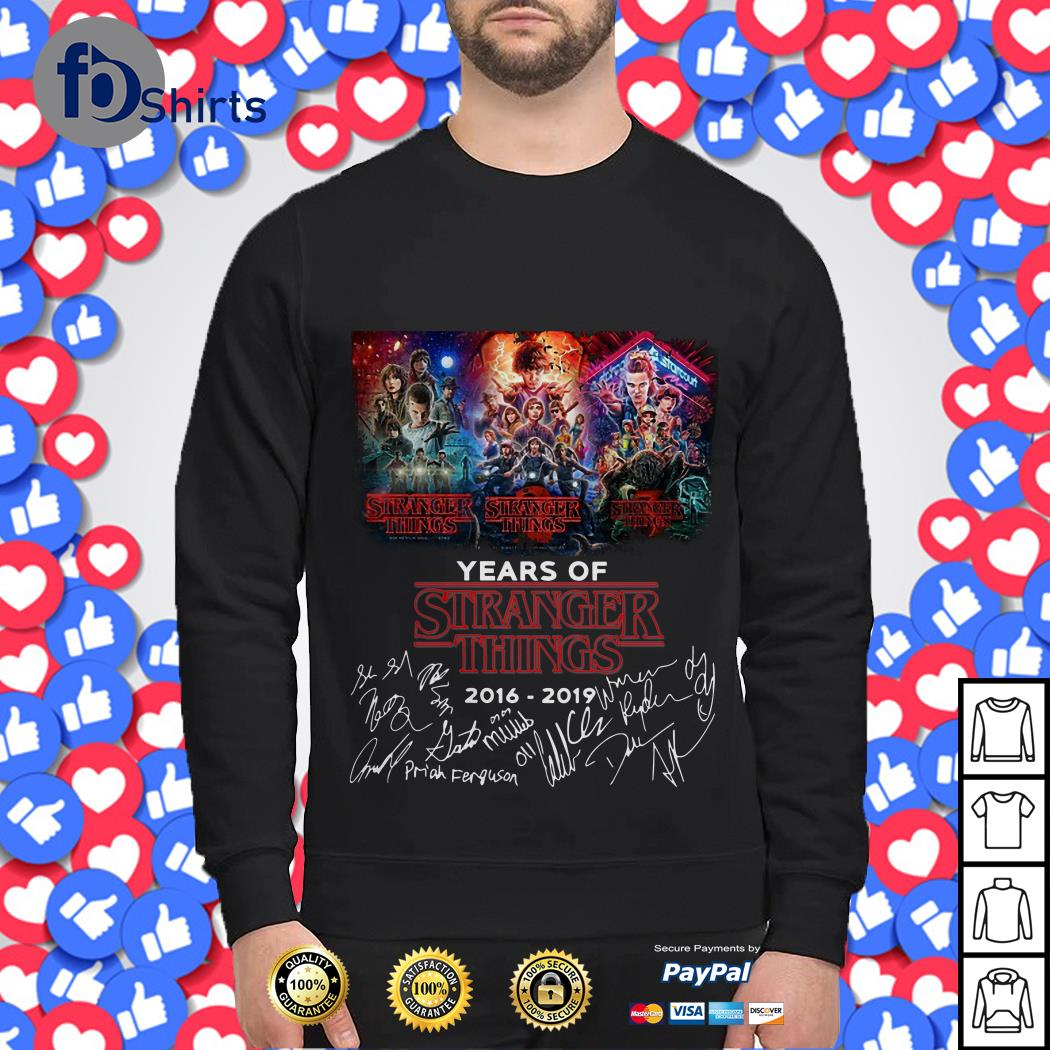 03 Years of Stranger things 2016 2019 Signature Sweater