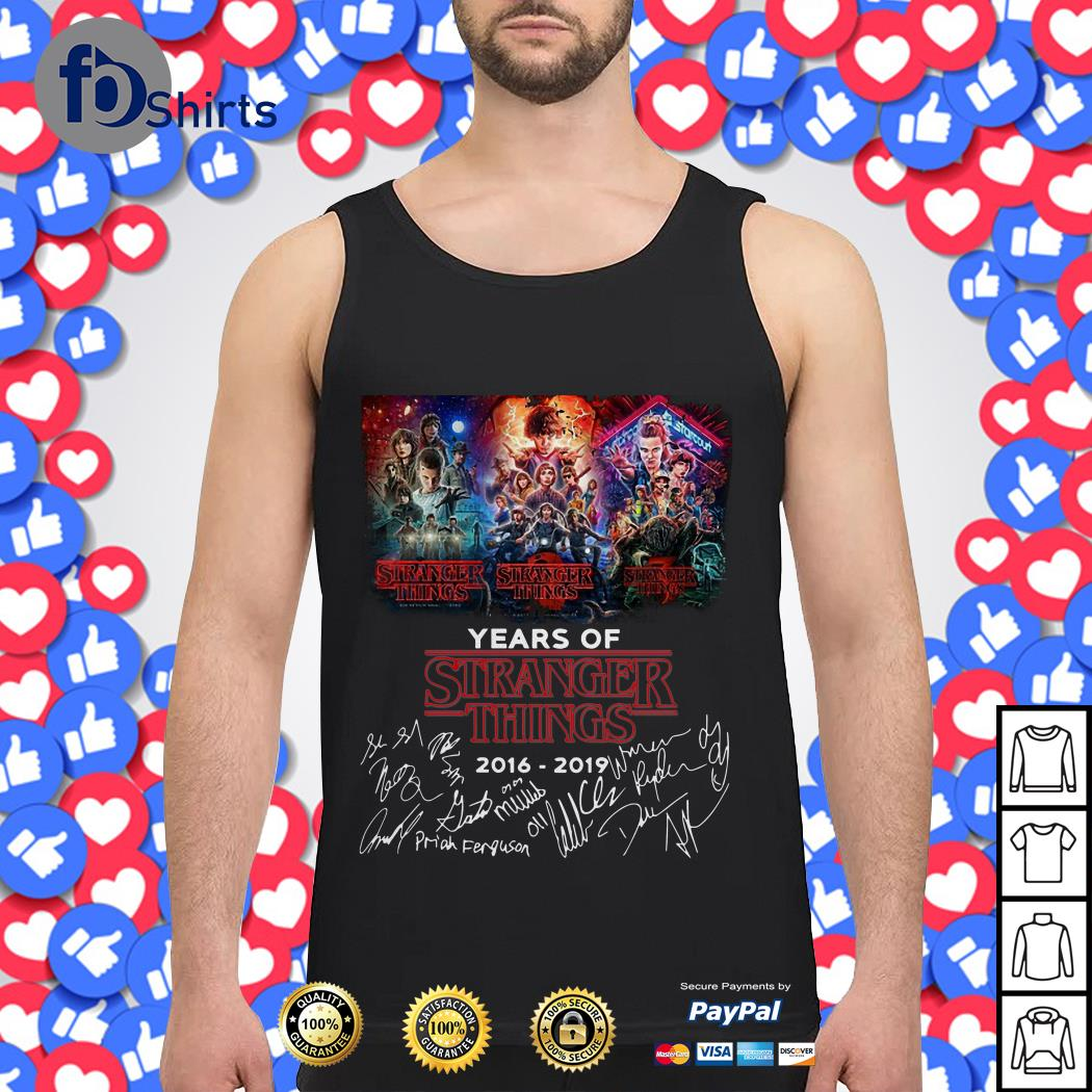 03 Years of Stranger things 2016 2019 Signature Tank top