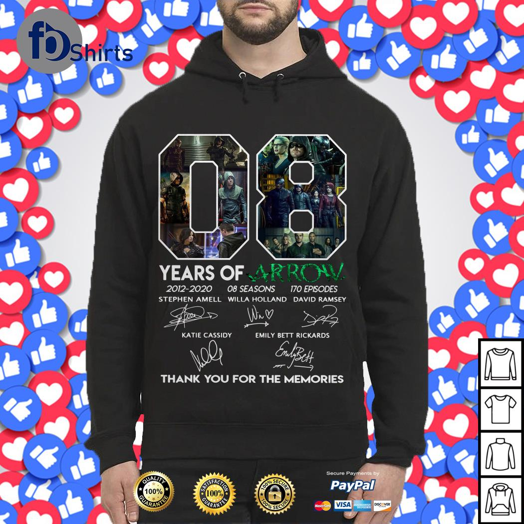 08 Years of Arrow thank you for the memories Hoodie