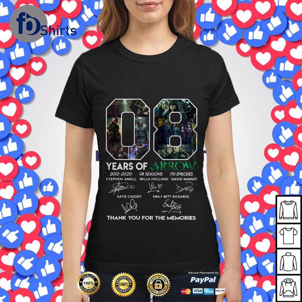 08 Years of Arrow thank you for the memories Ladies tee