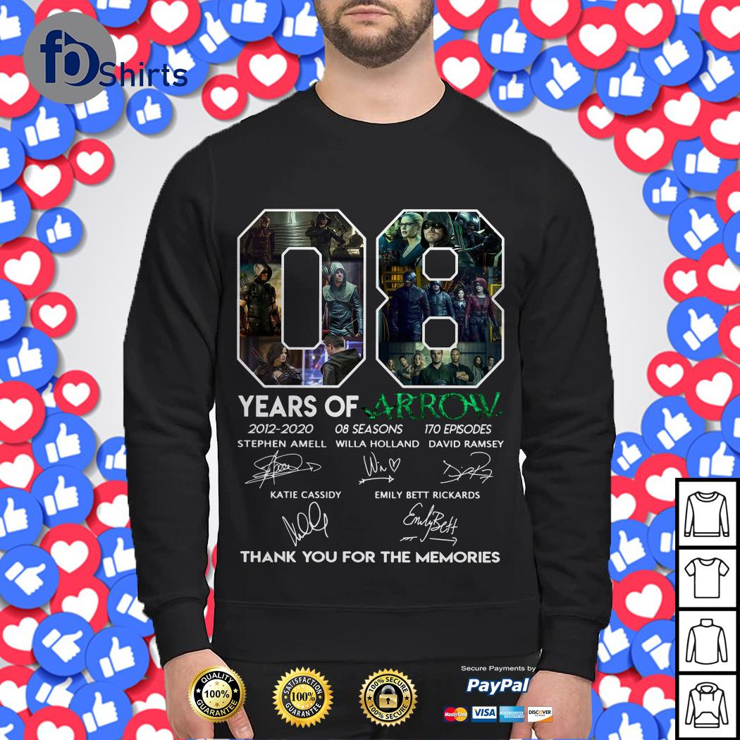 08 Years of Arrow thank you for the memories Sweater