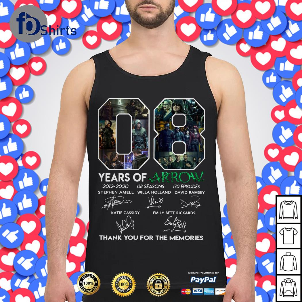 08 Years of Arrow thank you for the memories Tank top