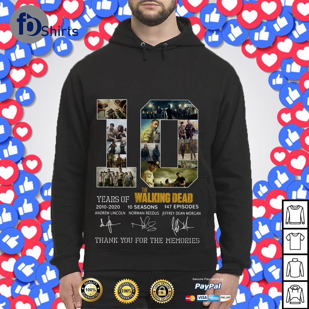 10 Year of the Walking Dead 2010 2020 10 seasons 147 episodes Hoodie
