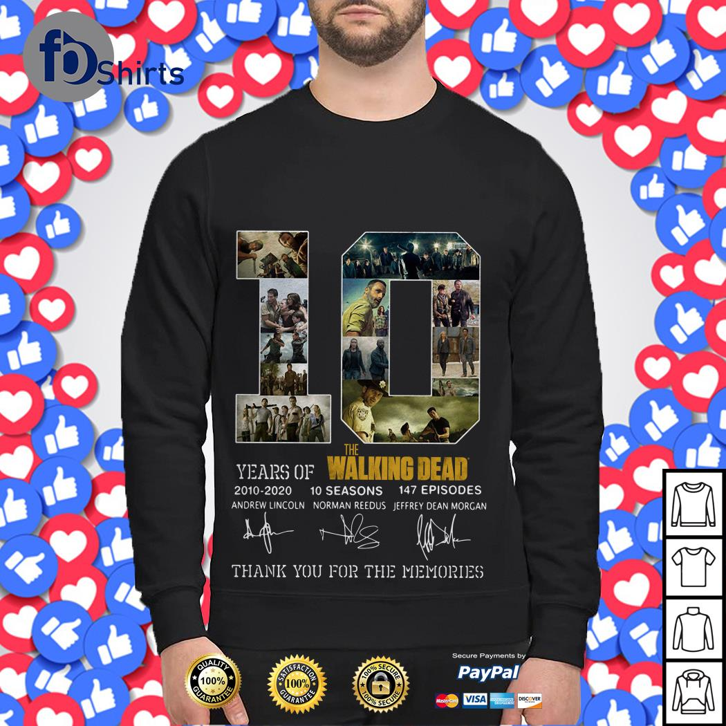 10 Year of the Walking Dead 2010 2020 10 seasons 147 episodes Sweater