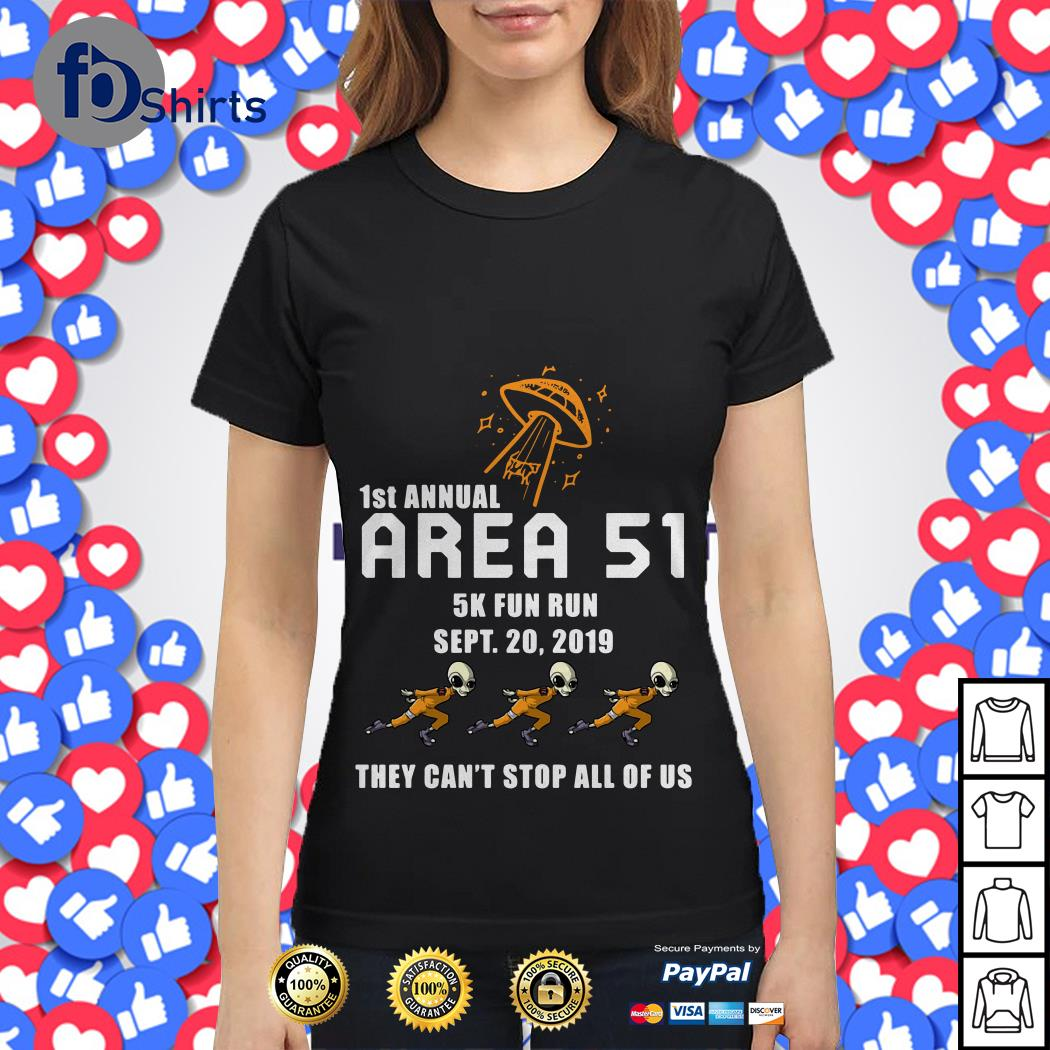 1st Annual Area 51 5k fun run Ladies tee
