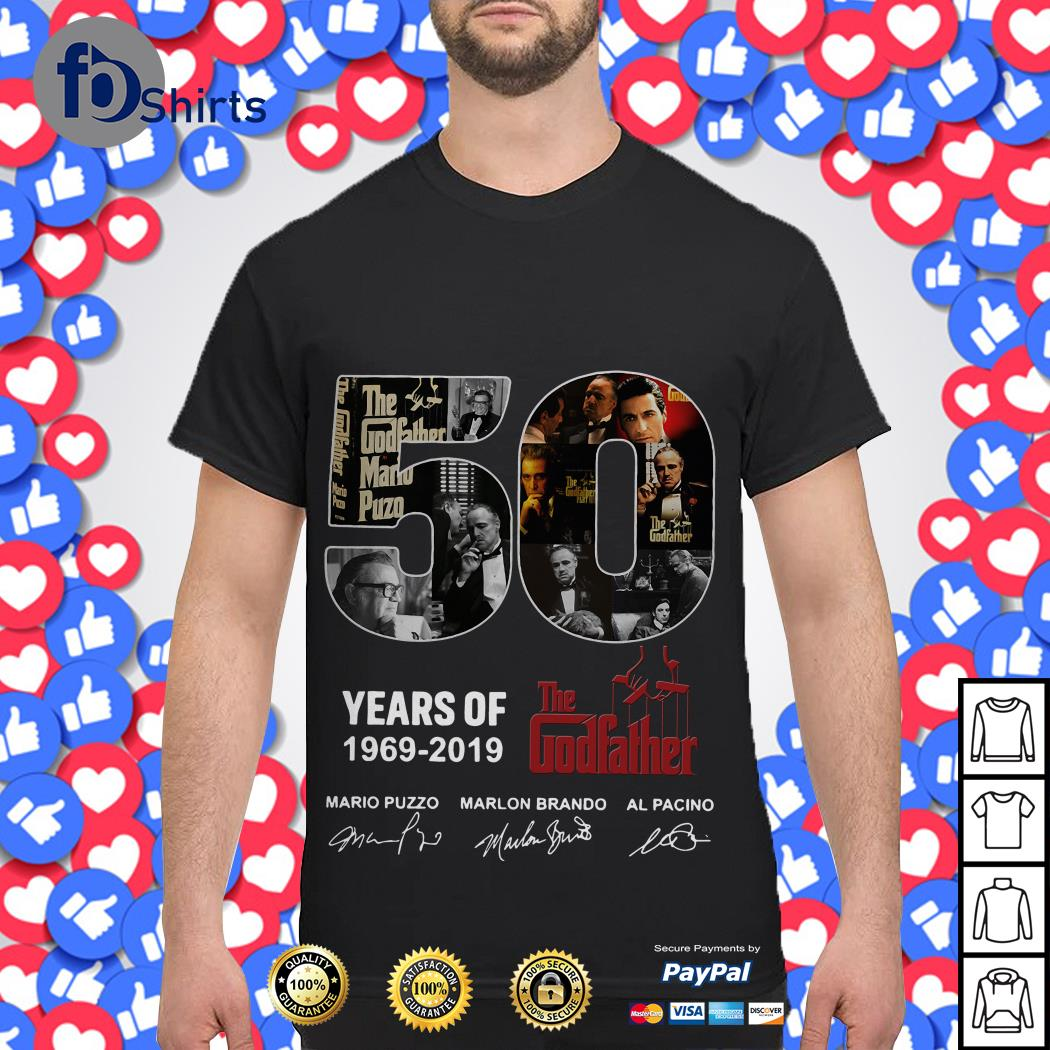 50 years of 1969 2019 the Godfather shirt