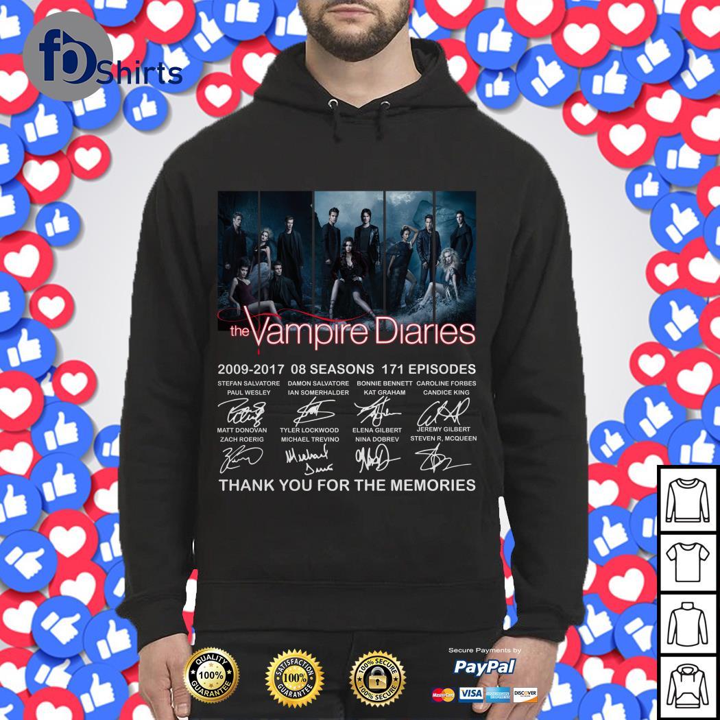 The Vampire Diaries 2009-2017 08 seasons 171 episodes signature Hoodie