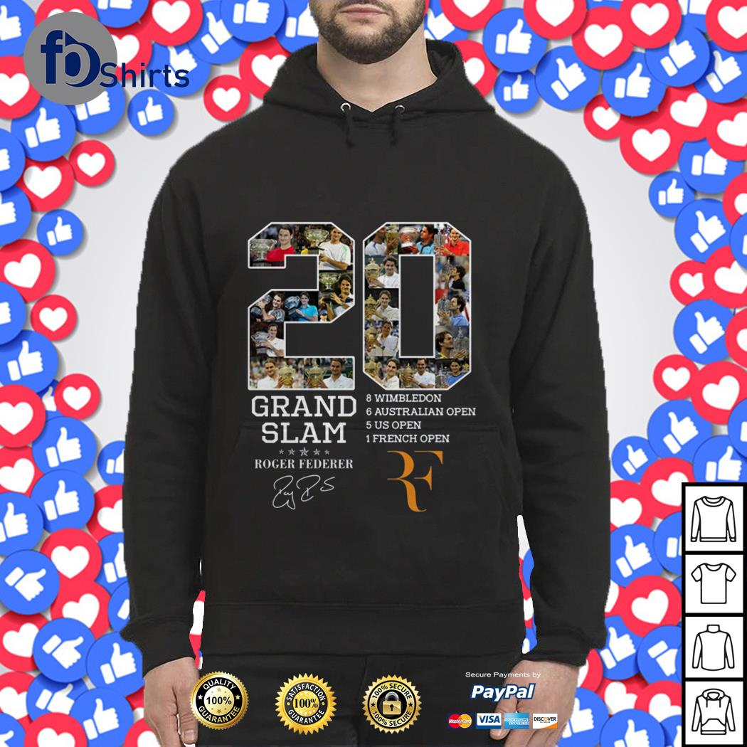 20 Years Grand Slam Roger Federer signature Hoodie