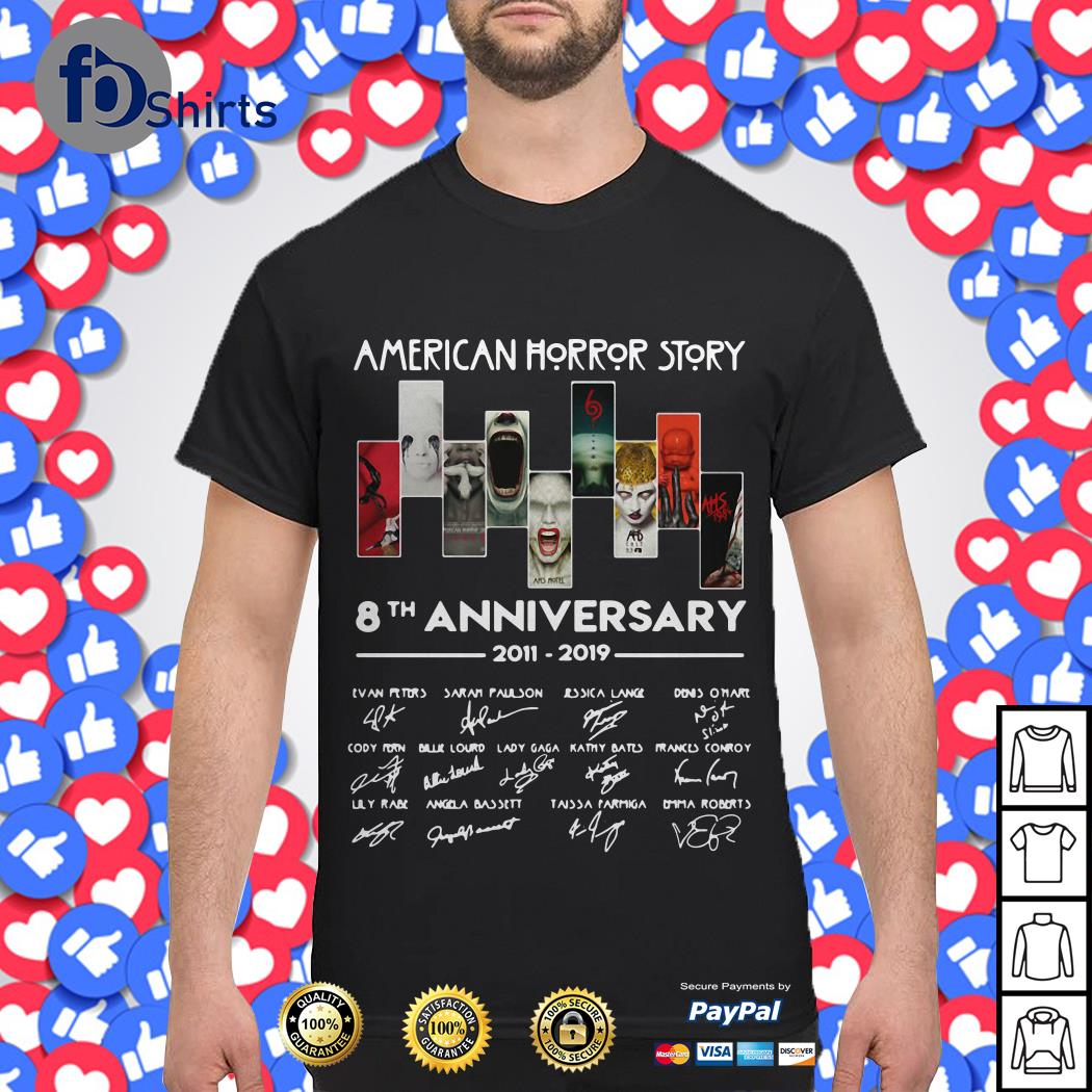 American horror story 8th anniversary 2011-2019 signature shirt