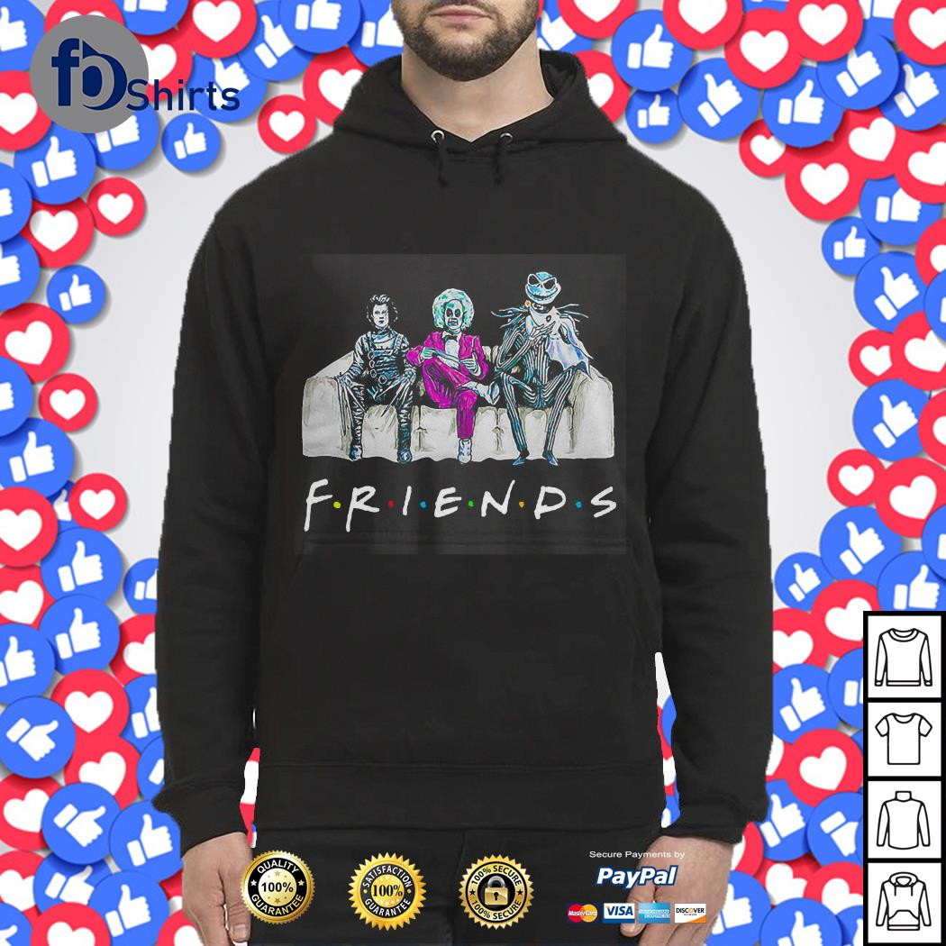 Beetlejuice Edward Scissorhands Jack Skellington Friends shirt