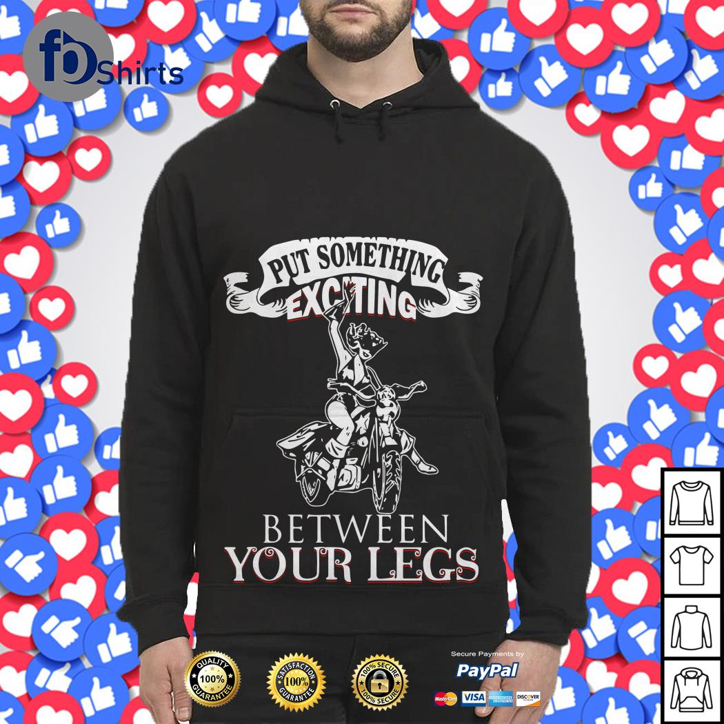 Biker and Girl Put Something Exciting Between Your Legs Hoodie