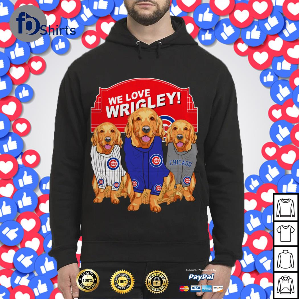 Chicago Cubs Golden Retriever We Love Wrigley shirt
