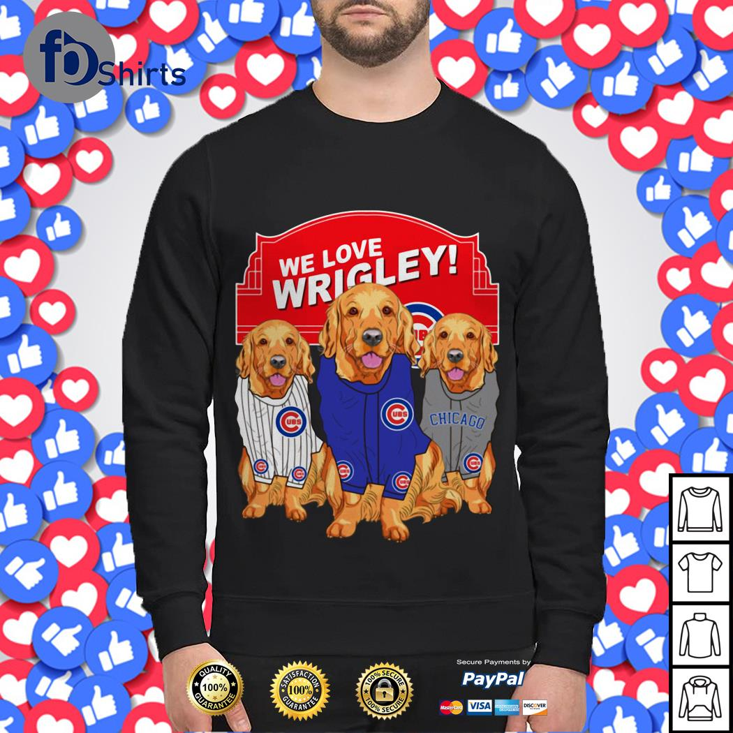 Chicago Cubs Golden Retriever We Love Wrigley Sweater