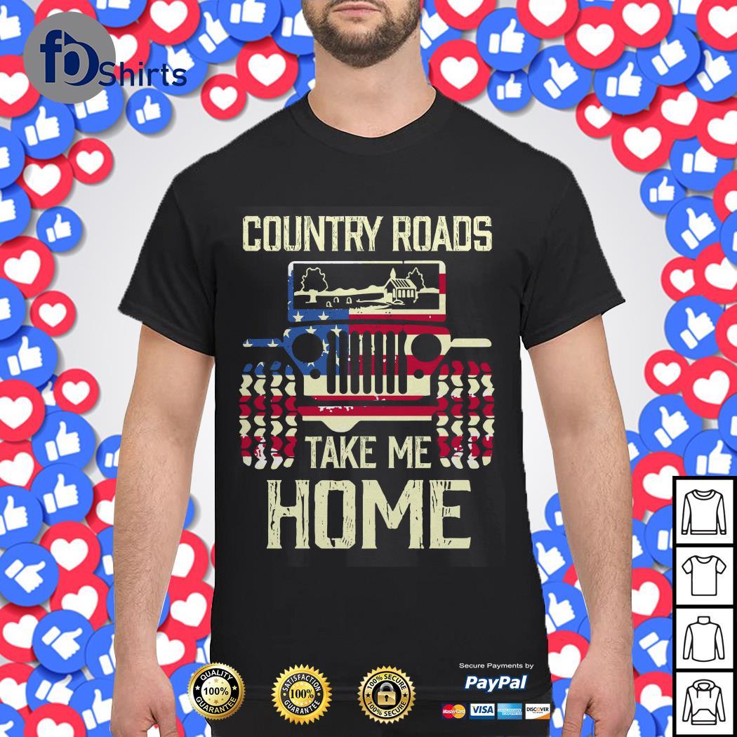 Country Roads Jeep take Me Home shirt