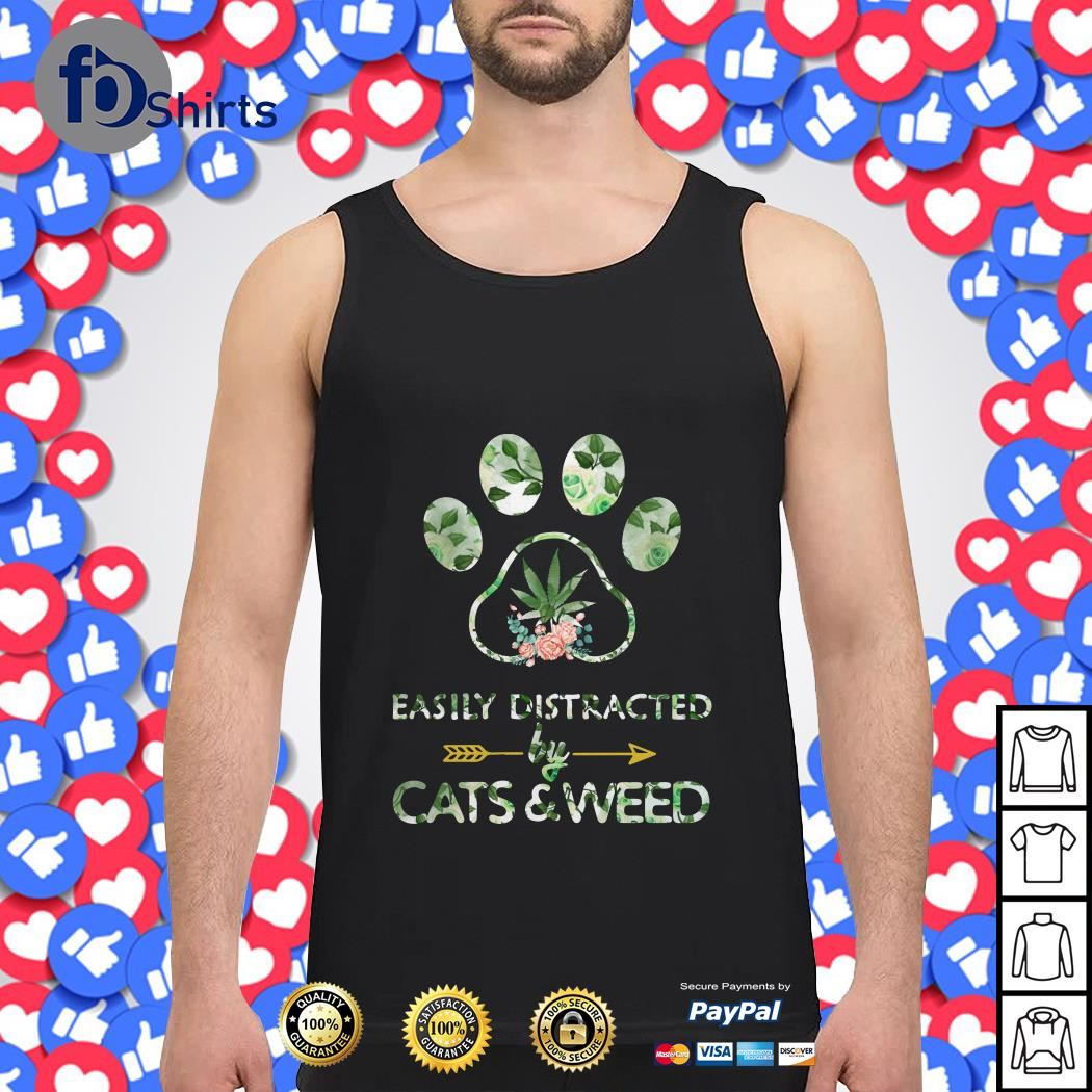 Easily Distracted by Cats and Weed Tank top