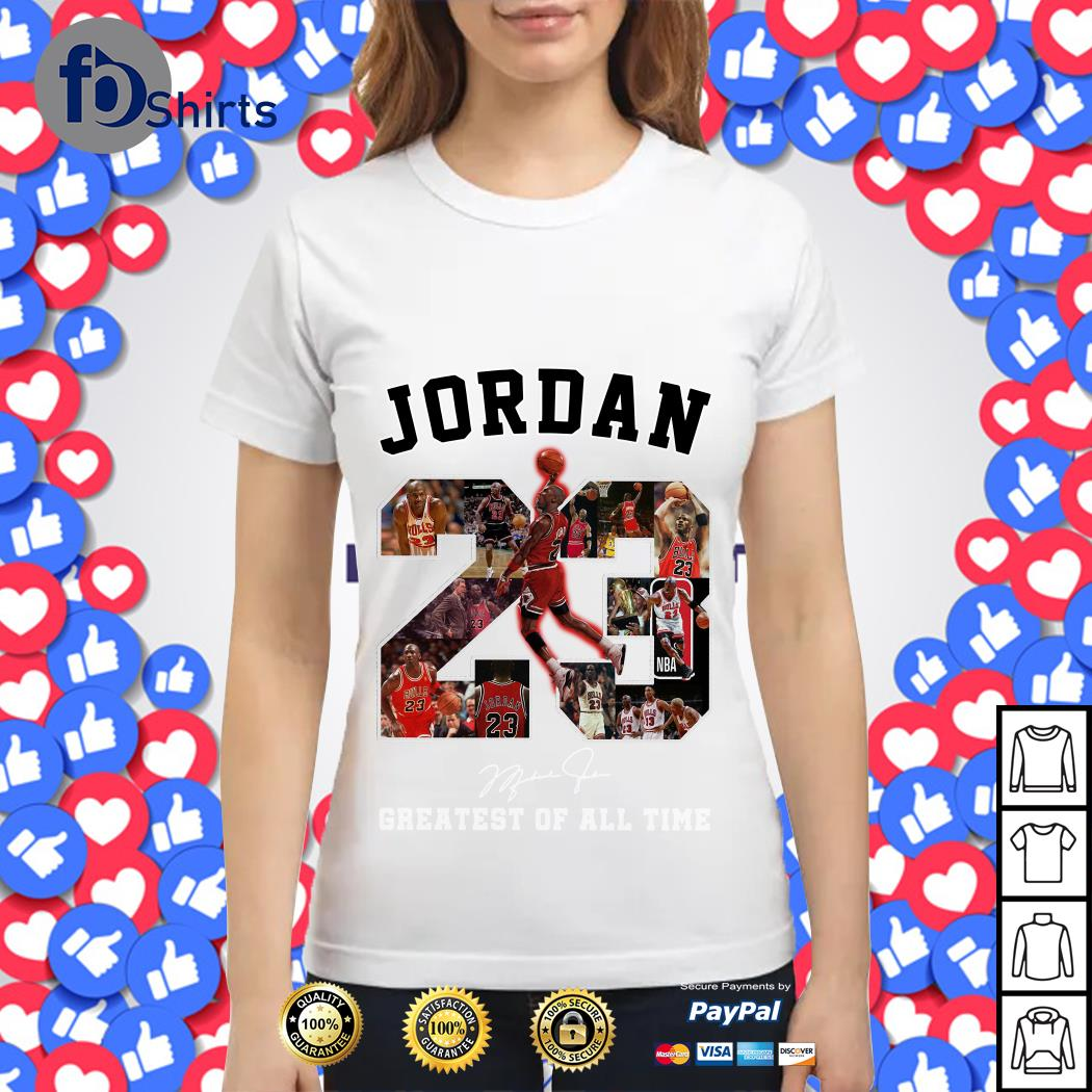 Jordan 23 Greatest of all time signature Ladies tee