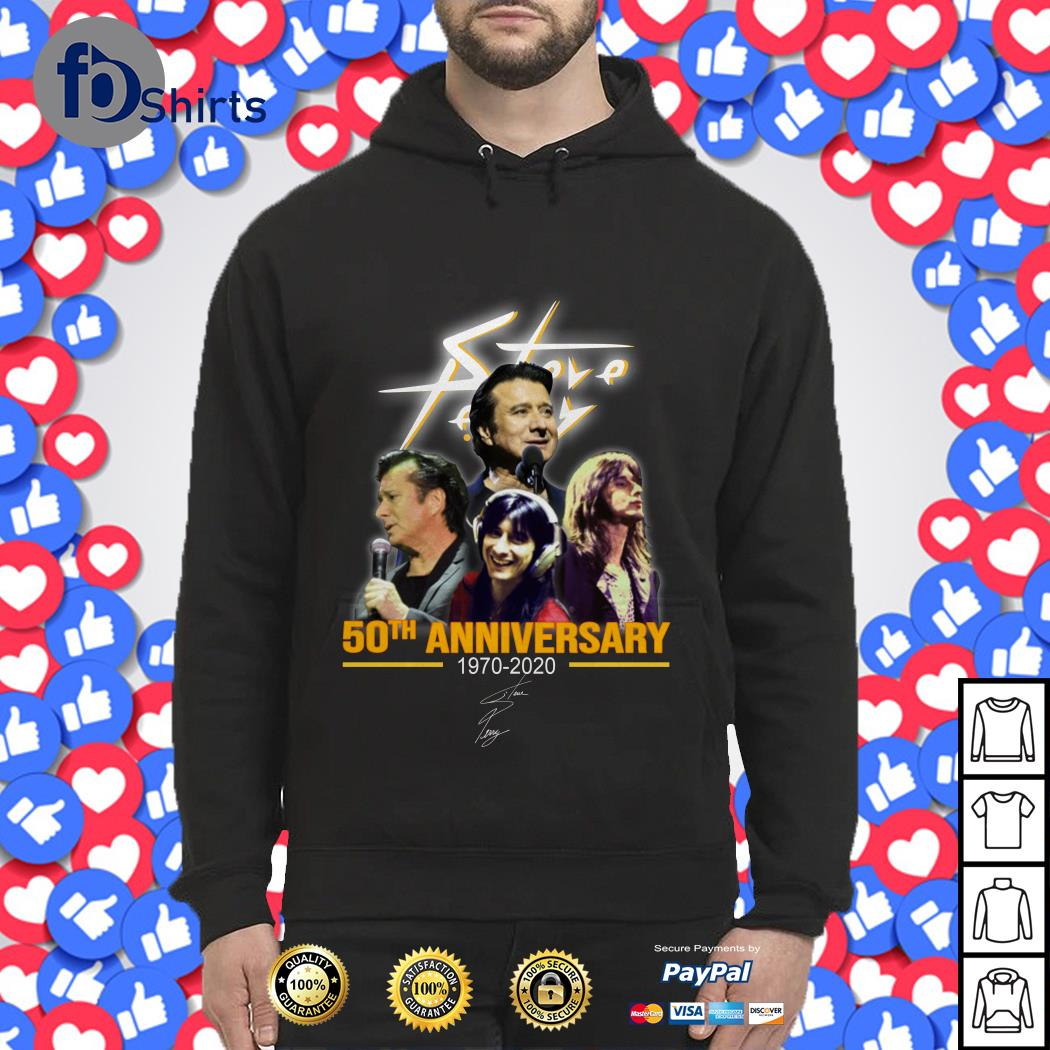 Steve Perry 50th anniversary 1970-2020 signature Hoodie