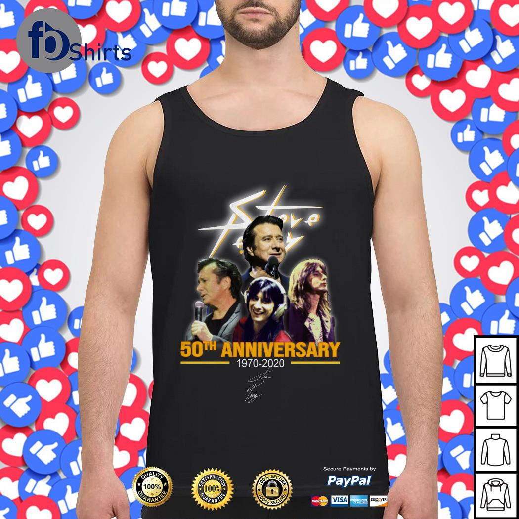Steve Perry 50th anniversary 1970-2020 signature Tank top