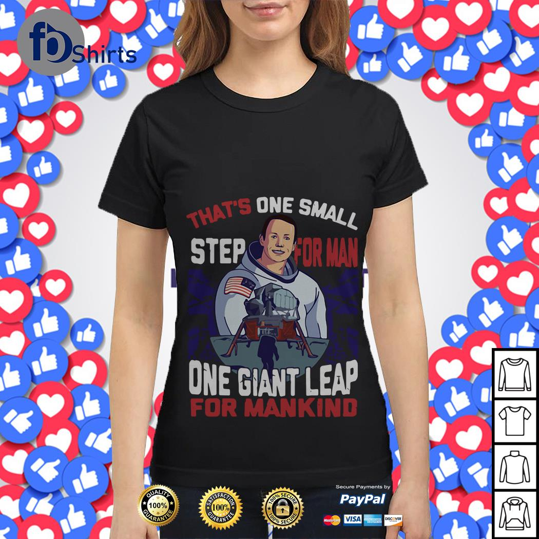 That's one small step for man one giant leap for mankind America Flag Ladies tee