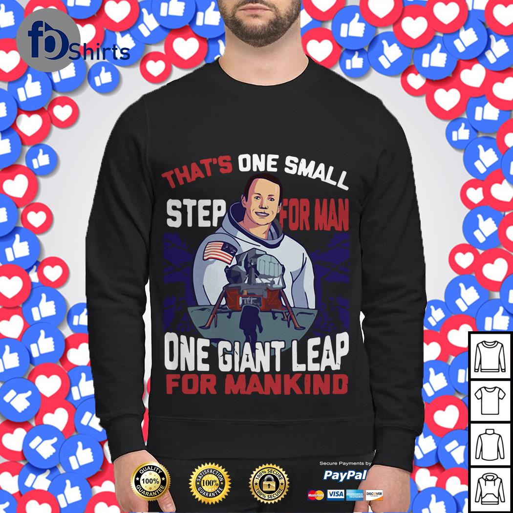 That's one small step for man one giant leap for mankind America Flag Sweater