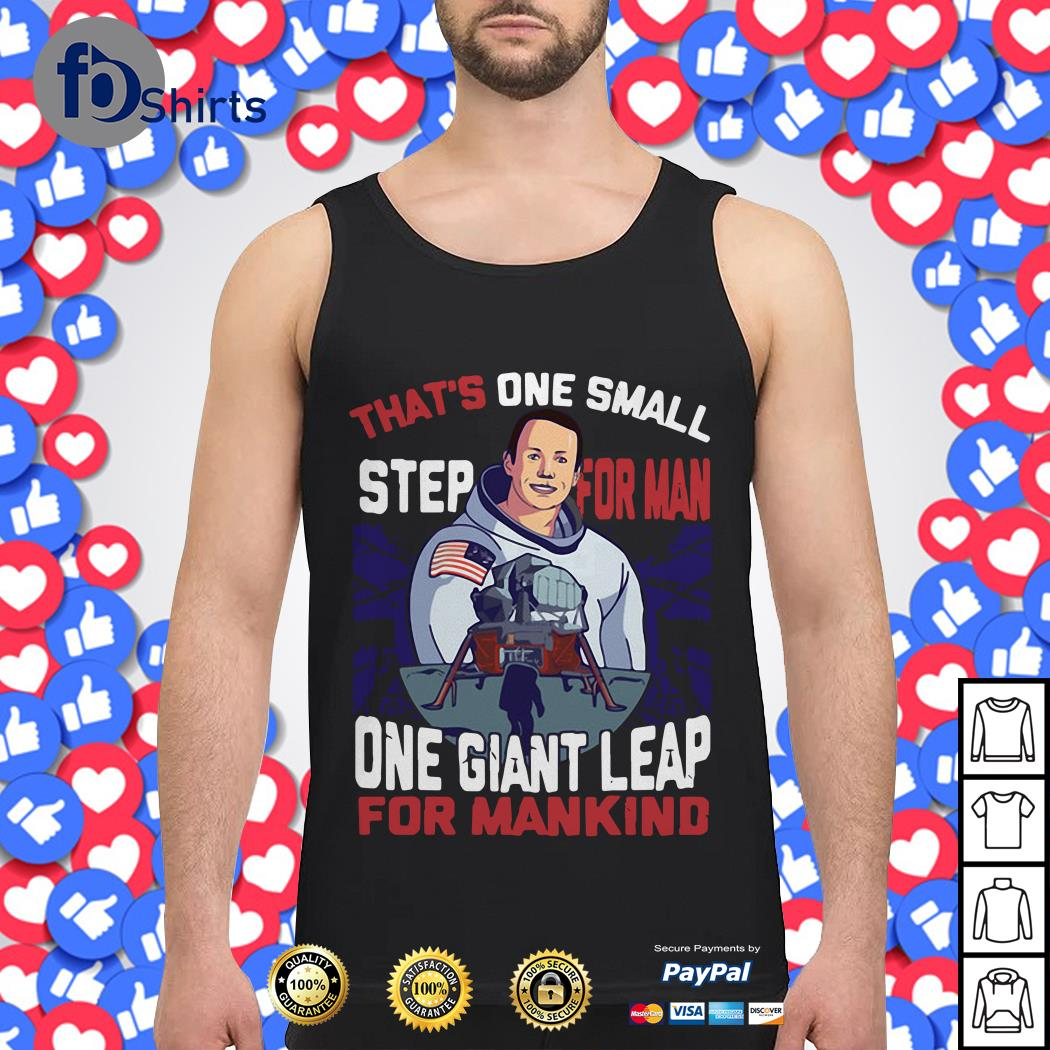 That's one small step for man one giant leap for mankind America Flag Tank top