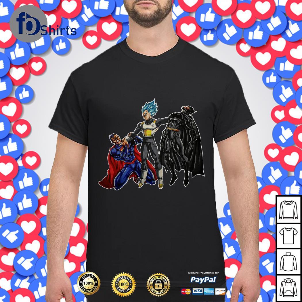 Vegeta vs Superman And Batman shirt