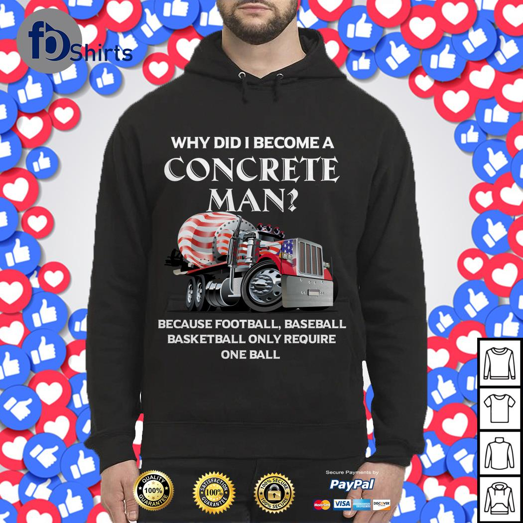 Why did I become a concrete man because football baseball Hoodie