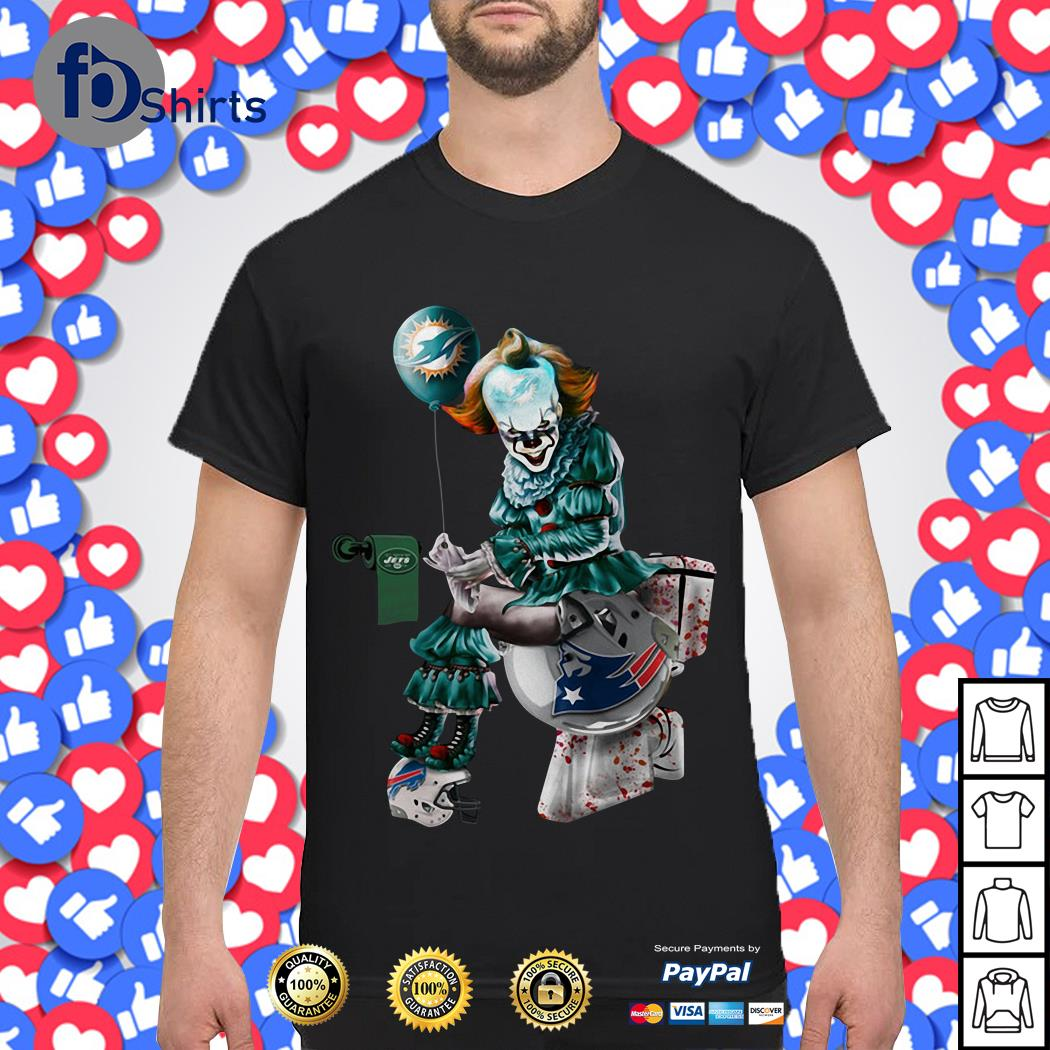 Pennywise Miami Dolphins, Buffalo Bills, New York Jets and New England Patriots Toilet shirt