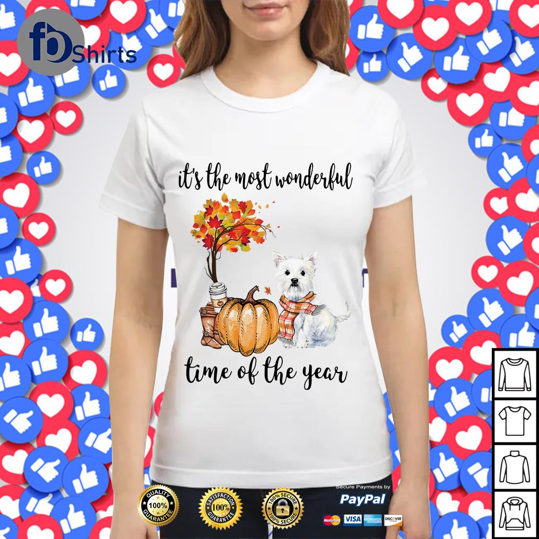 Westie it's the most wonderful time of the year Ladies tee