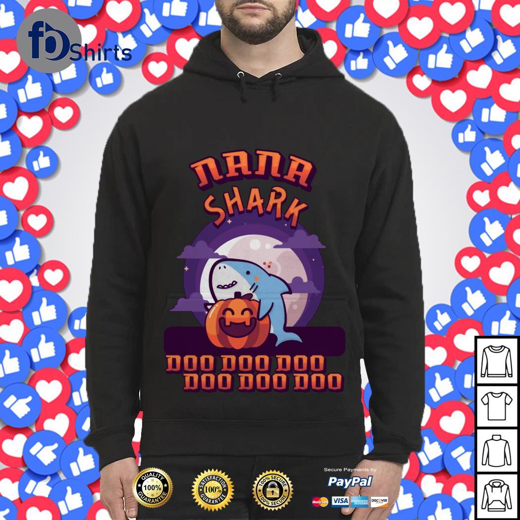 Halloween pumpkin Nana shark doo doo doo doo doo doo shirt