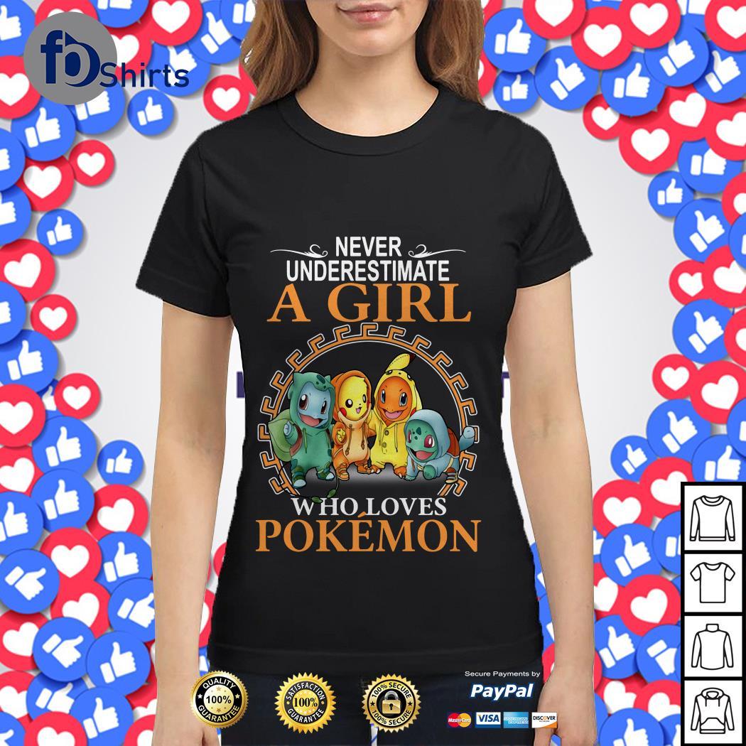 Never underestimate a girl who loves Pokemon shirt