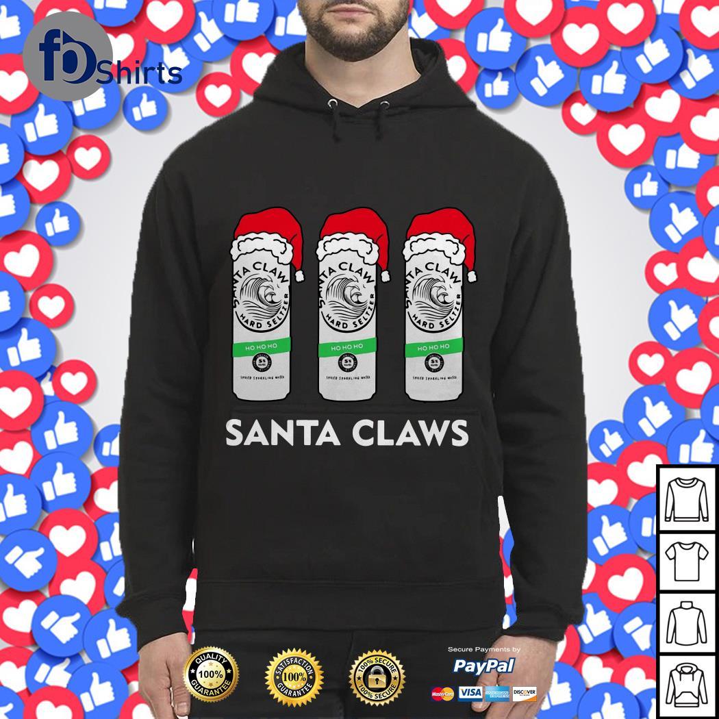 Santa Claws hard seltzer Christmas shirt
