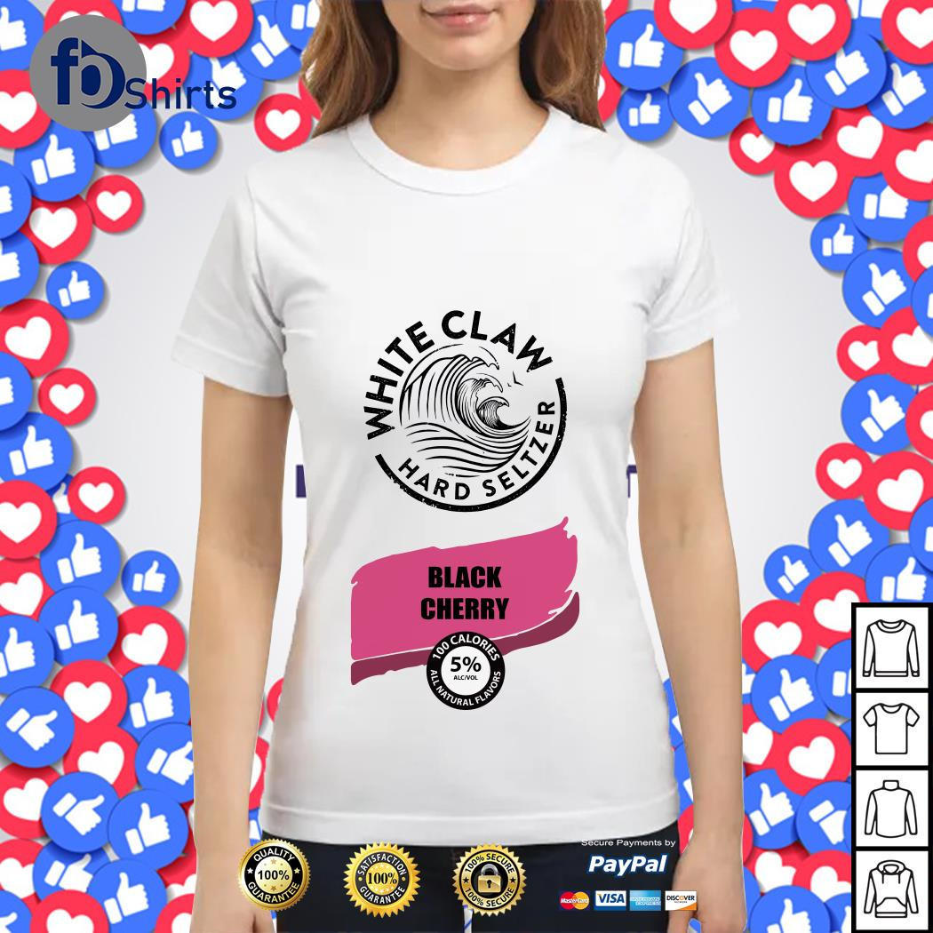 White Claw Halloween Costume Black Cherry Ladies tee