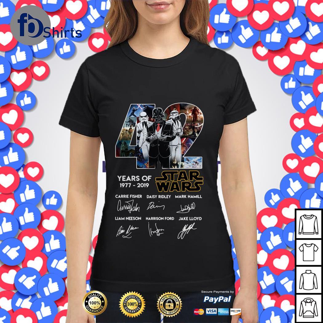 42 Year of Star Wars 1977-2019  signature shirt