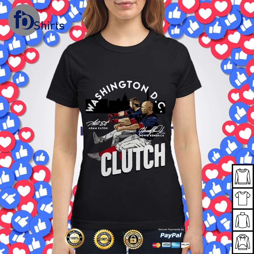 Adam Eaton Howie Kendrick Washington DC Clutch signatures shirt
