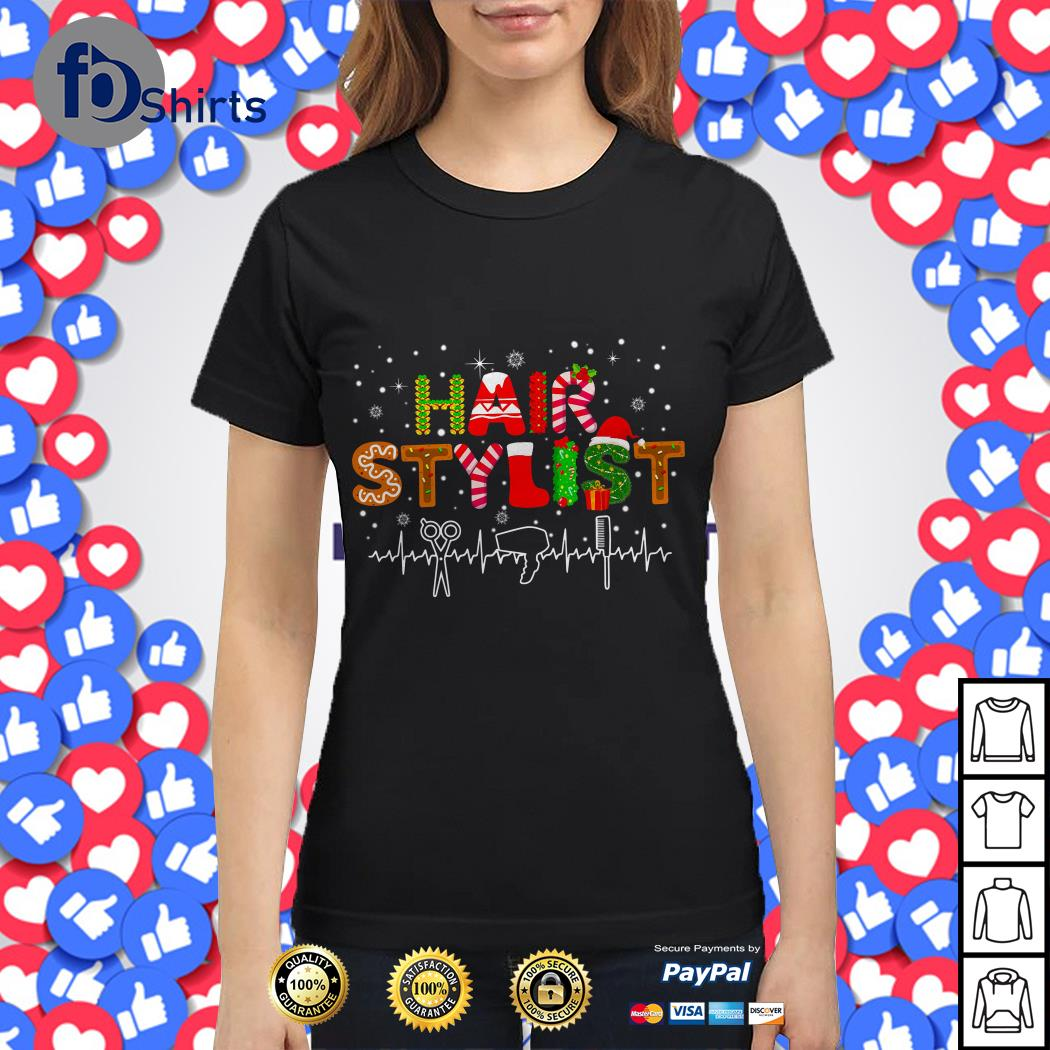 Merry Christmas hair stylist shirt