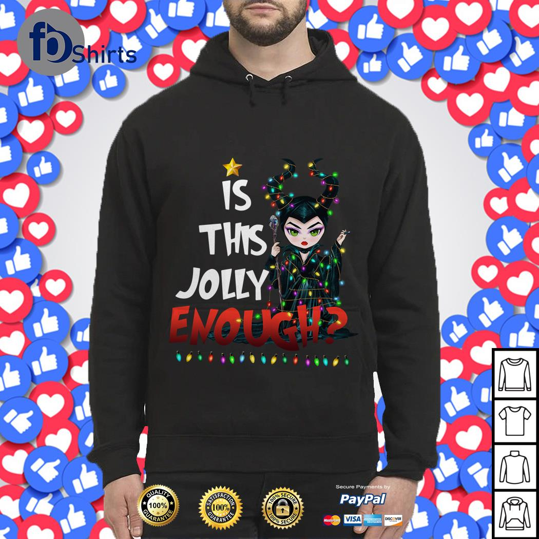 Merry Christmas Maleficent is this Jolly enough ugly sweat shirt