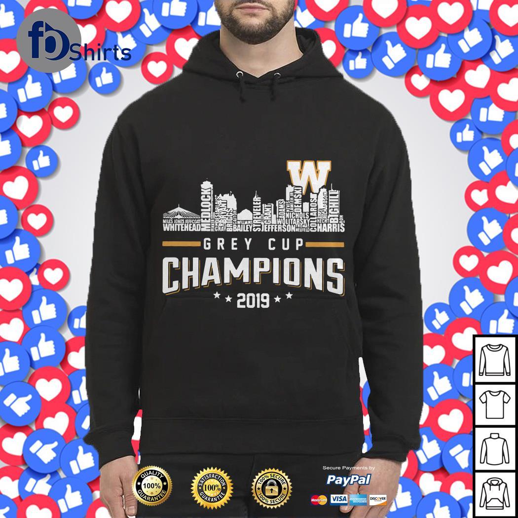 107TH Grey cup 2019 Champions shirt
