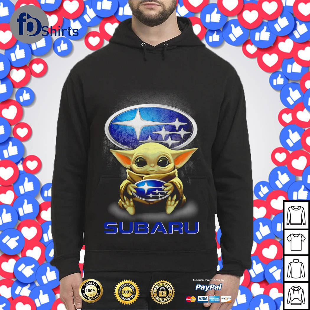 Baby Yoda hug Subaru shirt