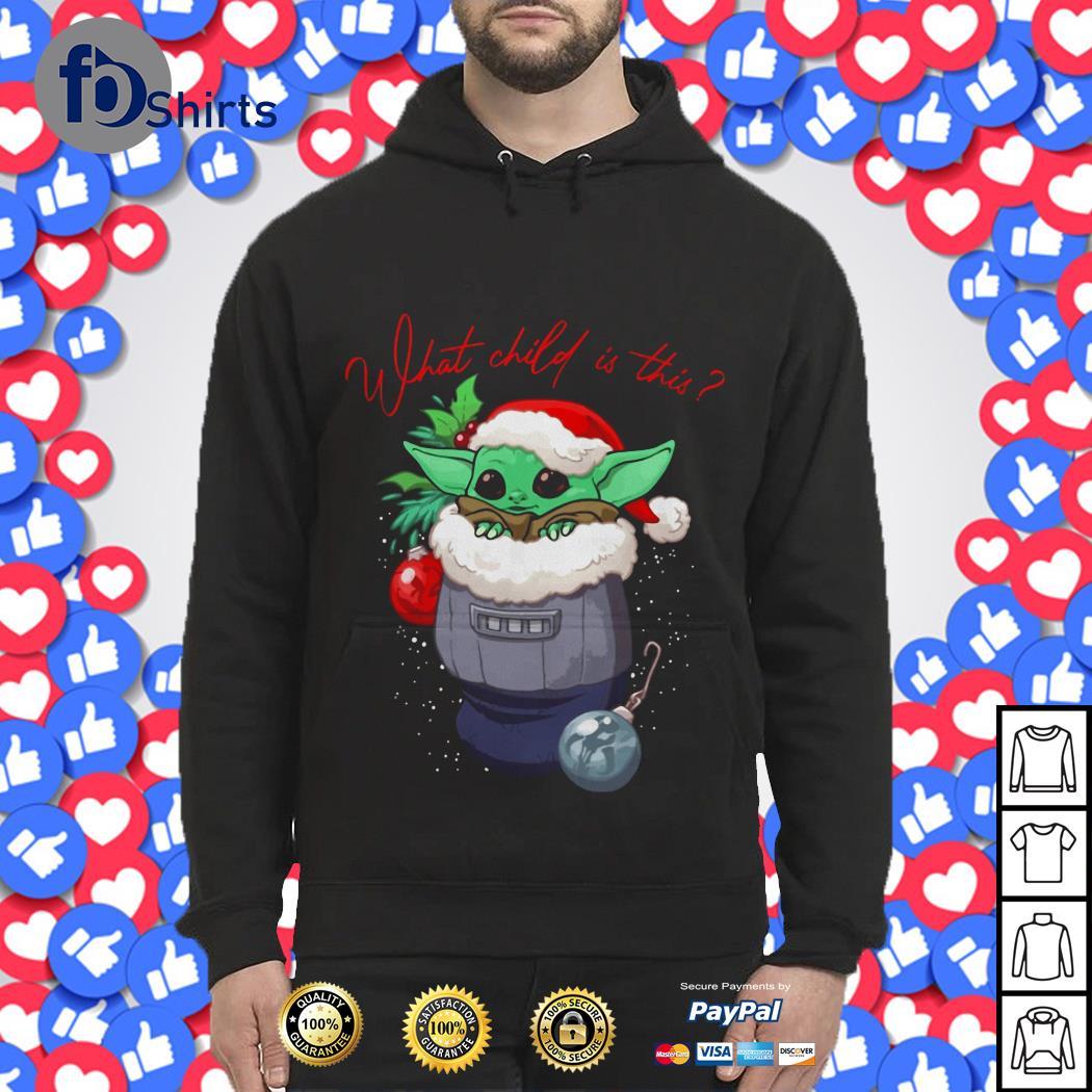 Christmas Baby Yoda Santa what child is this shirt