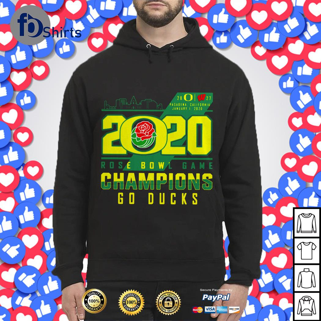 2020 Rose bowl game Champion go Ducks shirt