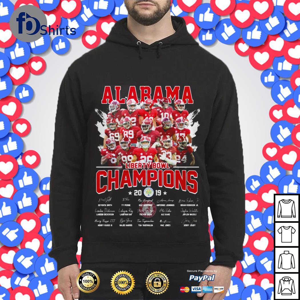 Alabama Crimson Tide liberty Bowl Champions 2019 signatures shirt