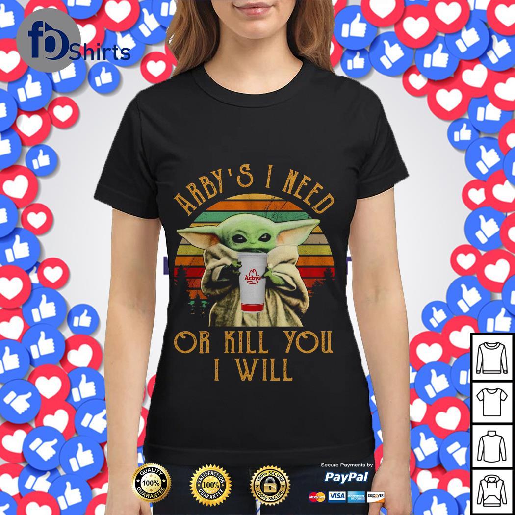 Baby Yoda coffee I need or kill You I will vintage shirt