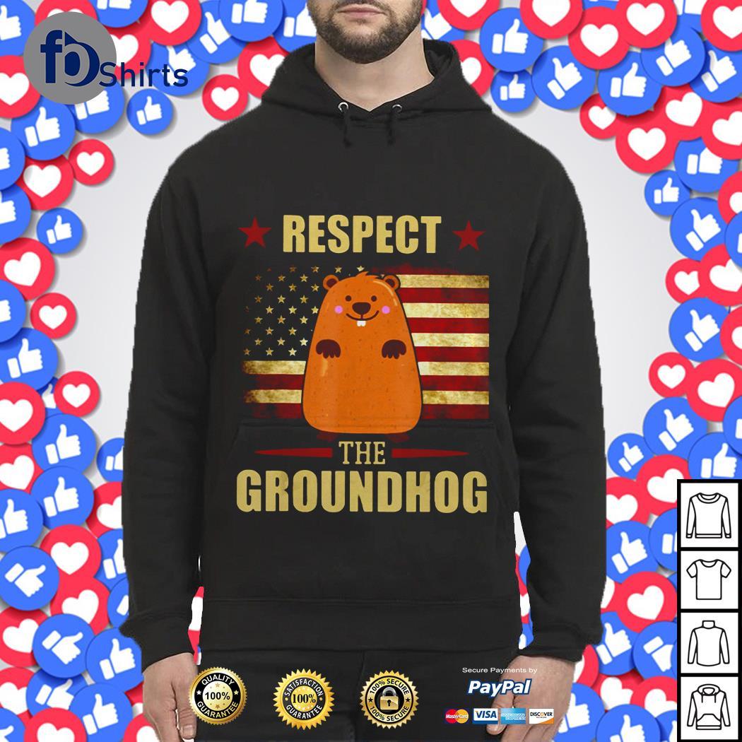 Respect the Groundhog American flag shirt